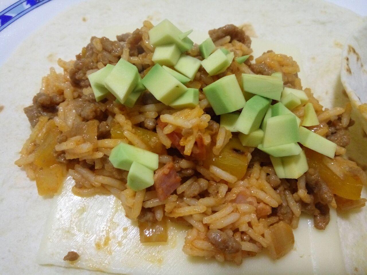 Receta de burrito con arroz sin gluten la cocina sin - Tortilla en el microondas ...