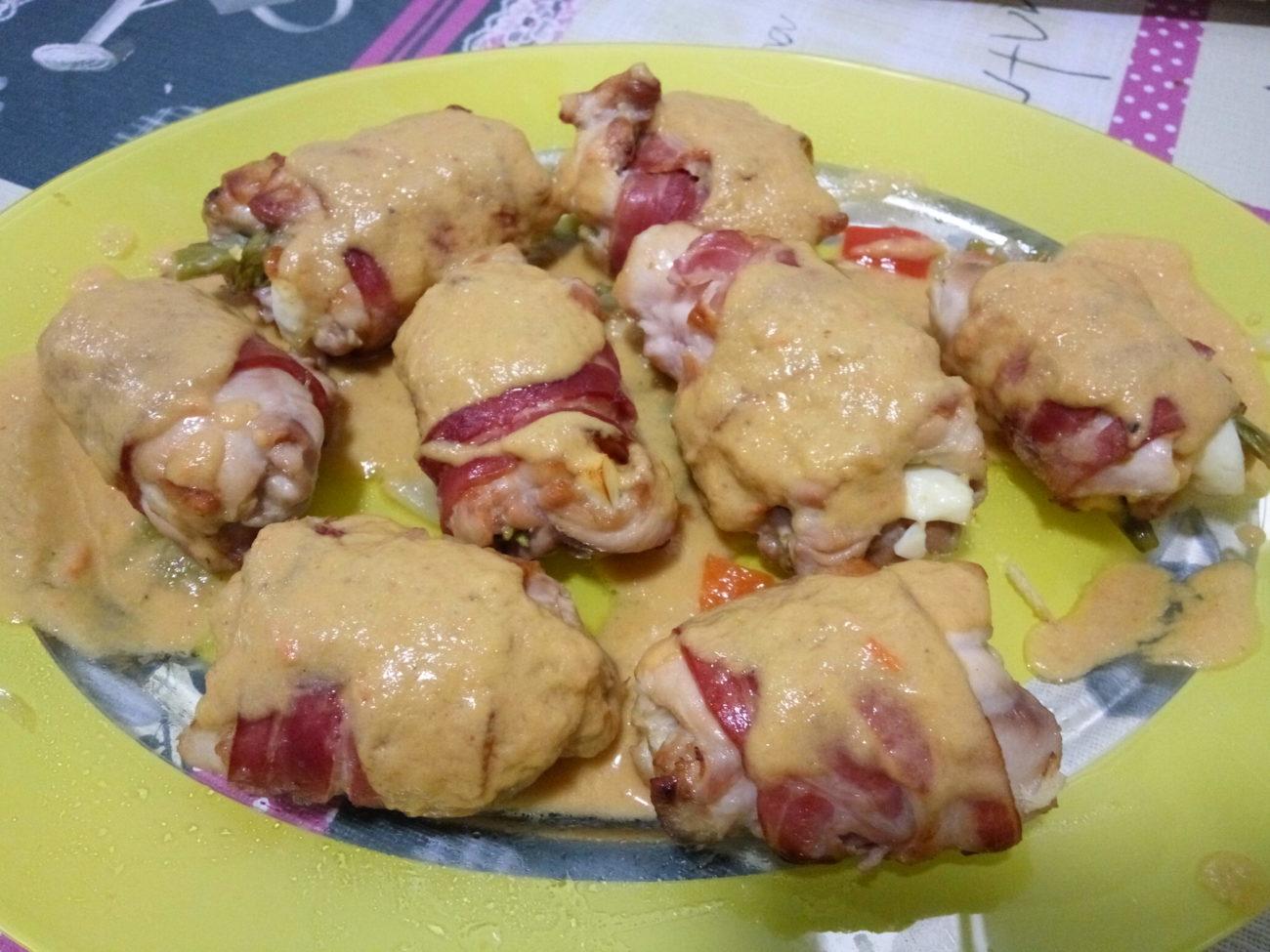 Rollitos de pollo con trigueros
