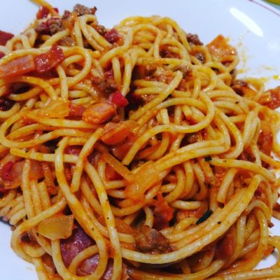 Espaguetis diábola