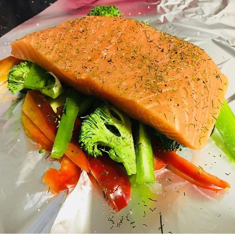 Receta de Salmon con verduras