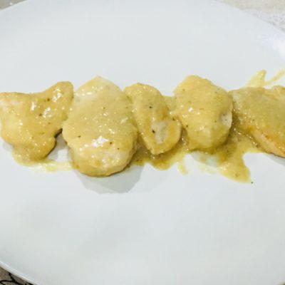 Solomillo de pavo con salsa de miel y mostaza