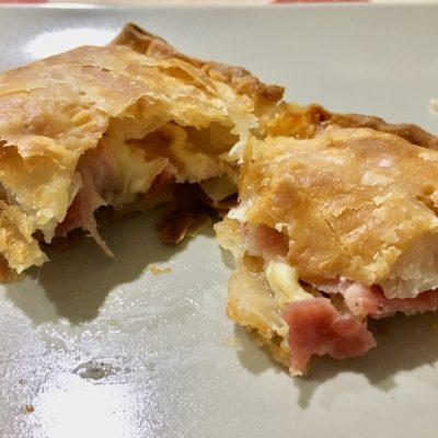 Empanada de bacon y datiles sin gluten
