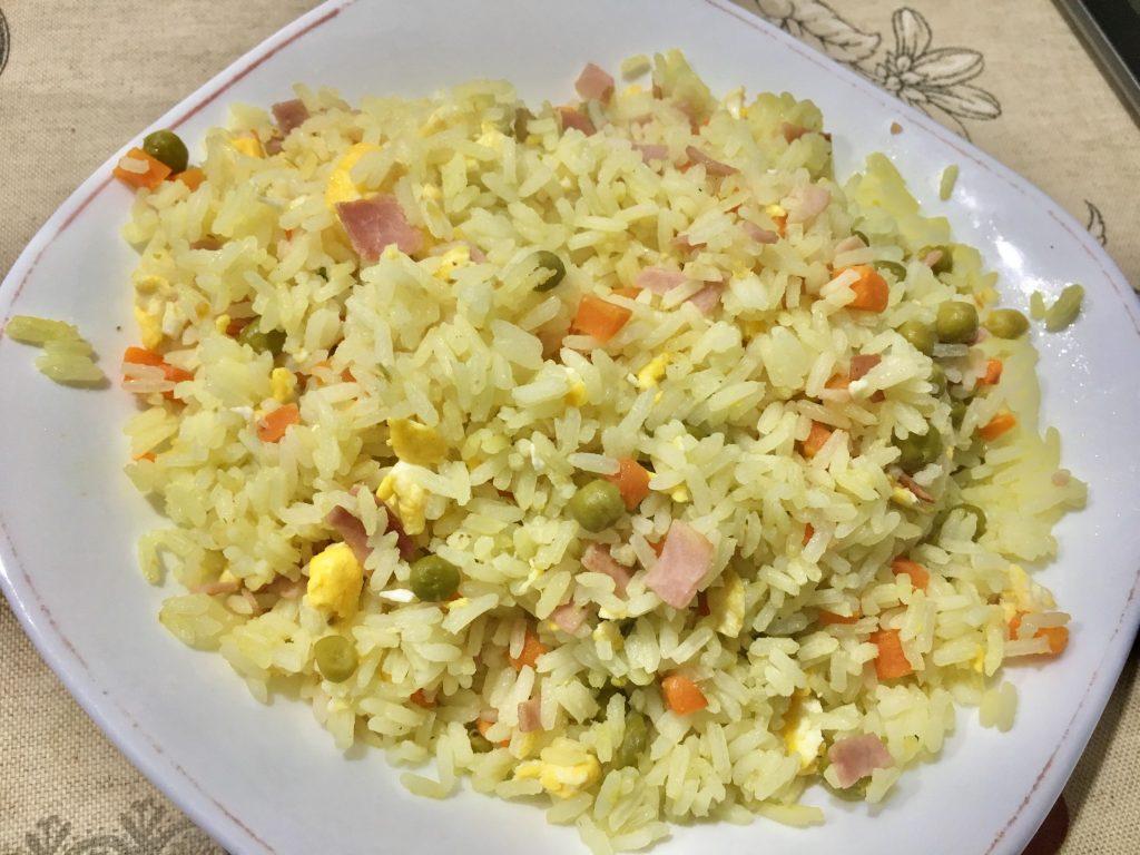 Receta de Arroz tres delicias sin gluten