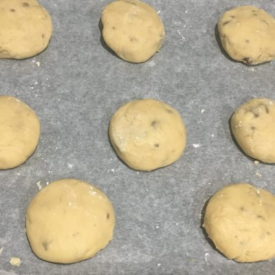 Brioches con pepitas de chocolate sin gluten