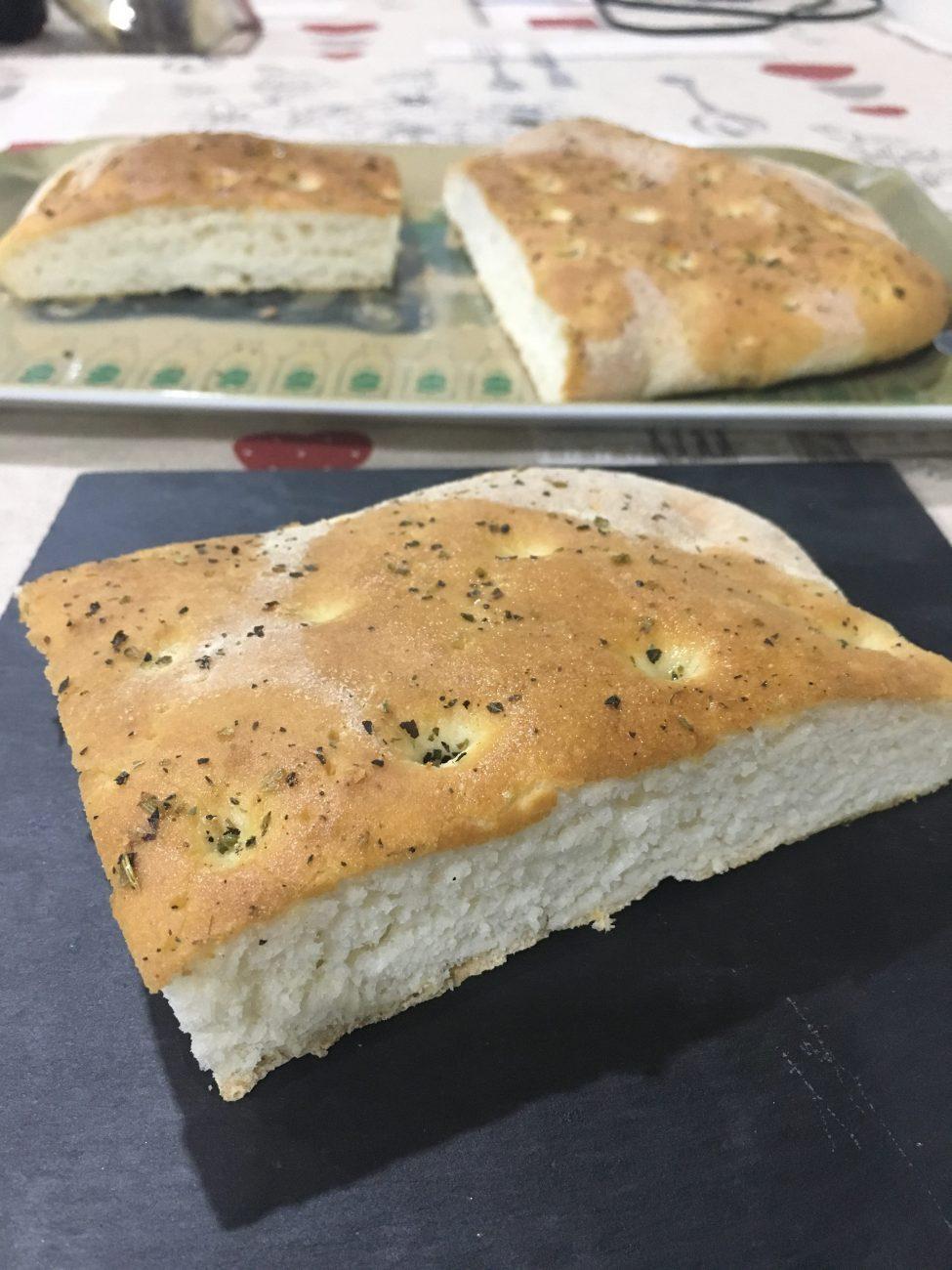 Focaccia sin gluten