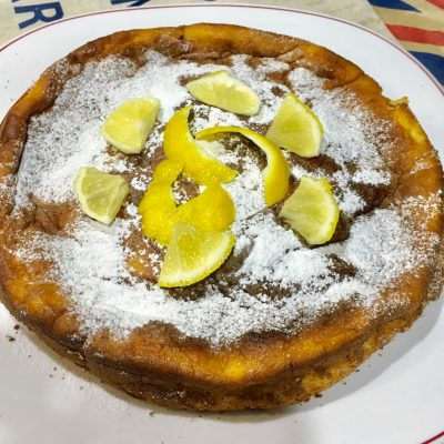 Tarta de queso al horno de limón