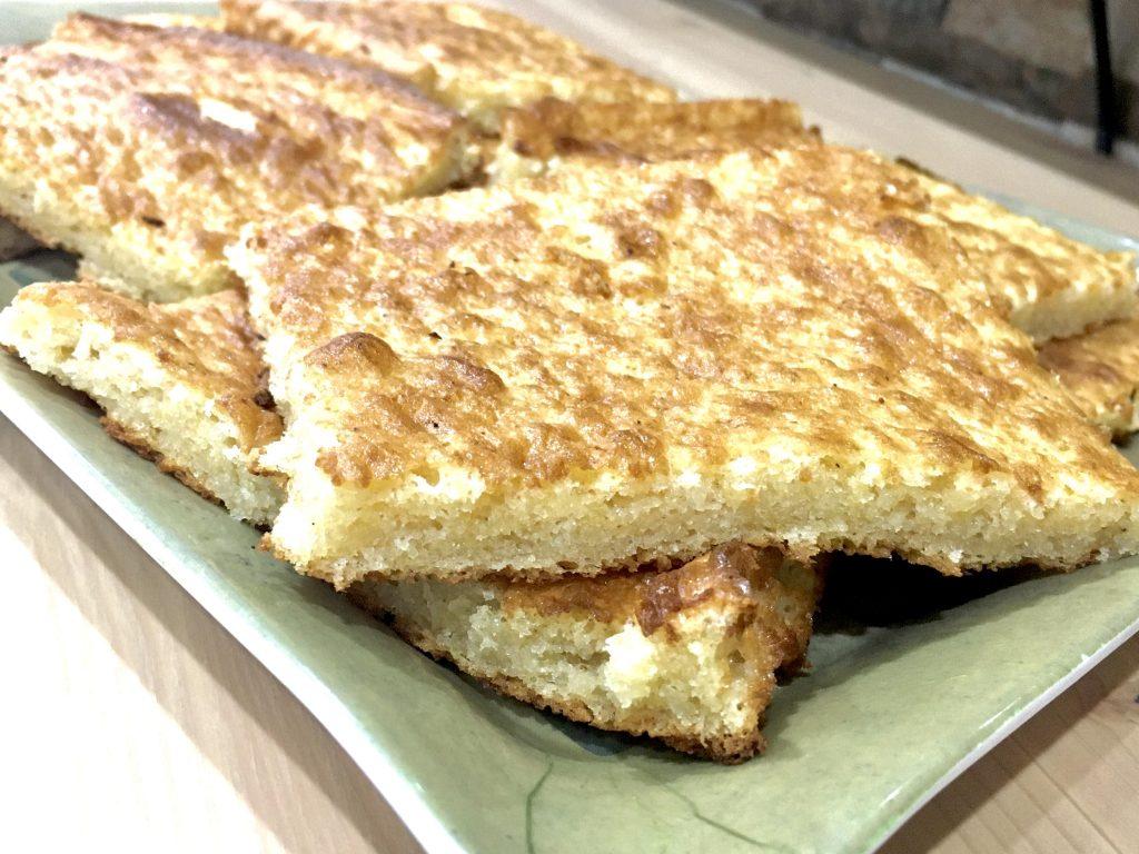 Plancha de bizcocho sin gluten
