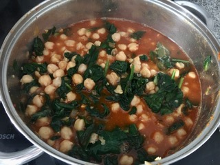 receta de Potaje de garbanzos sin gluten